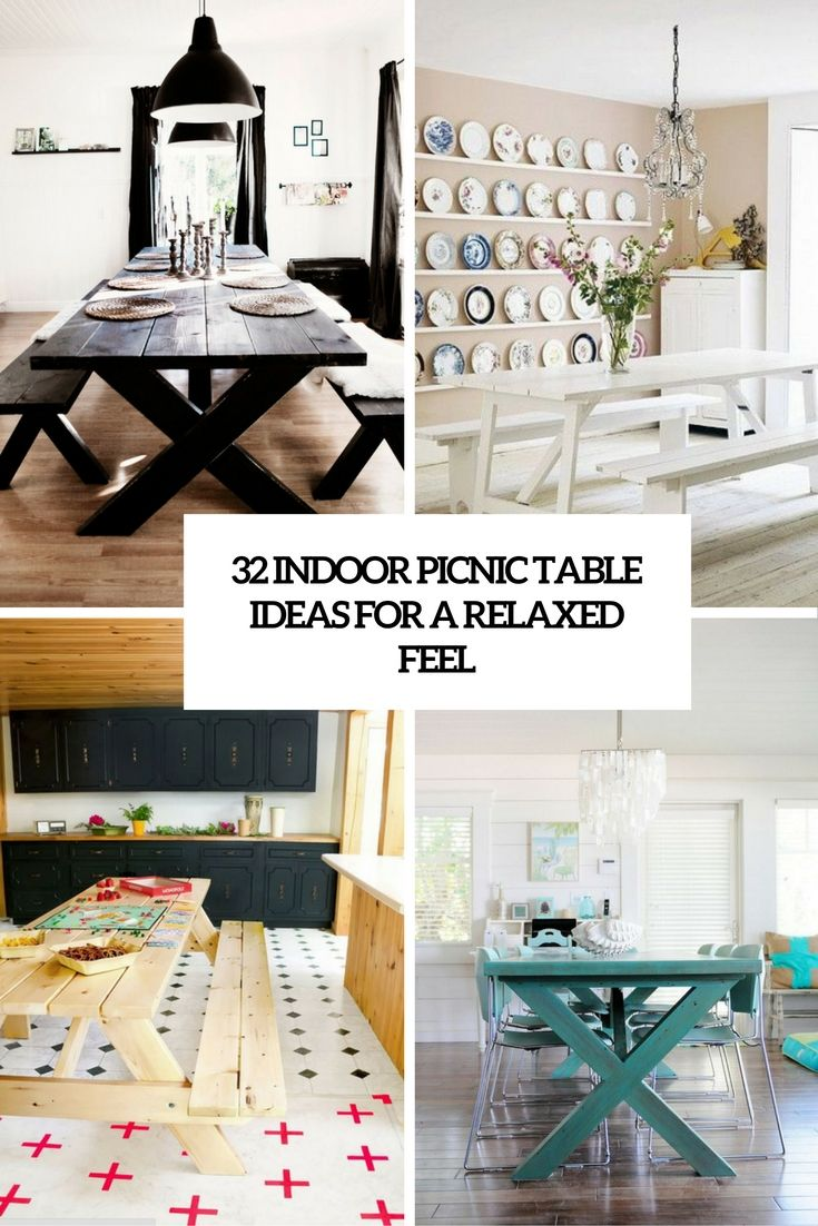 32 Indoor Picnic Table Ideas For A Relaxed Feel - DigsDigs | Home ...