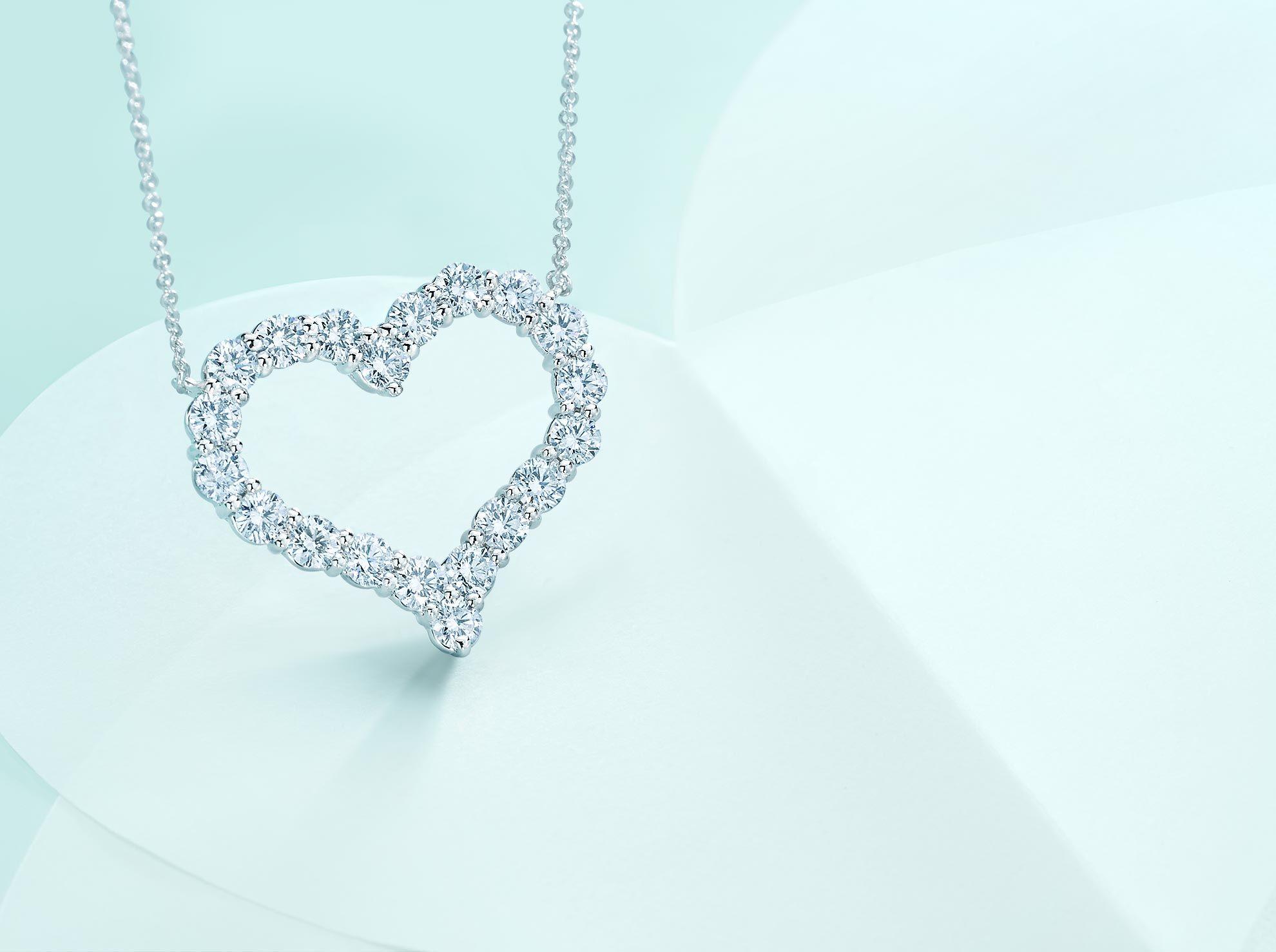 Tiffany hearts pendant tiffany bling and modern fashion tiffany hearts pendant of diamonds in platinum large tiffany co aloadofball Image collections