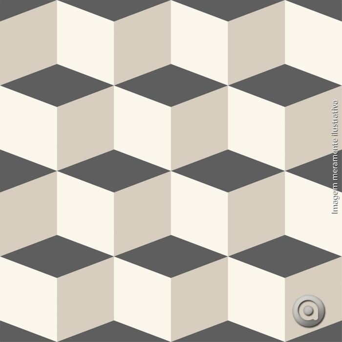 Artesanato Portugues Revenda ~ Adesivo De Azulejo Geométrico Cubos Cinza Preto DESENHOS GEOMÉTRICOS Pinterest Azulejos
