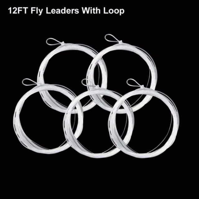 5pcs Fly Fishing Fluorocarbon Tapered Leader 7.5FT 0//1//2X Leader Line