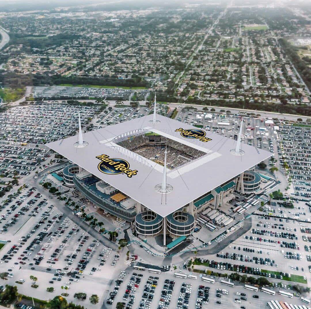 Hard Rock Stadium Miami Dolphins Seating Capacity 65 326 Stadiums Logos And Mascots