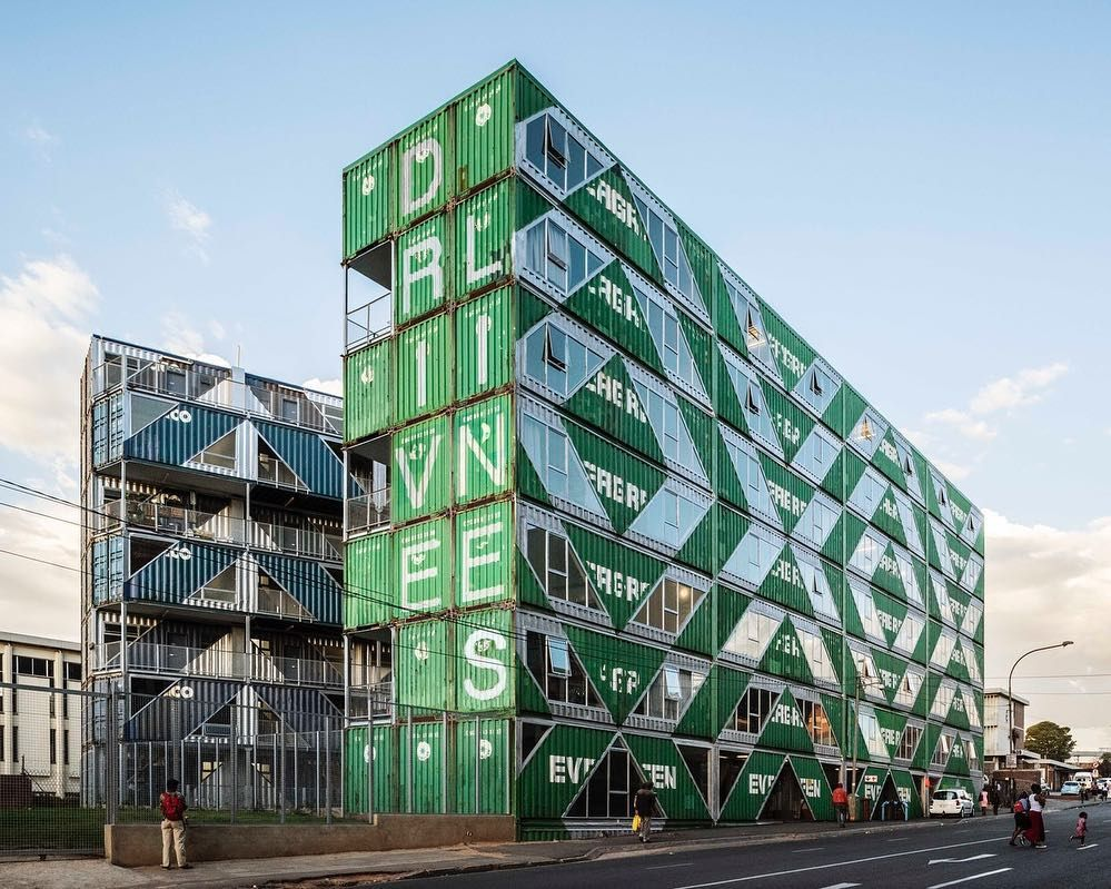Is This The Future Of Sustainable And Affordable Housing Apartment Complex In Johannesburg South Africa Made Up 140 Recycled