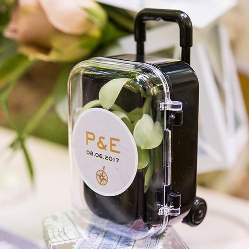 Miniature Travel Trolley With Wheels And Retractable Handle Pack Of 1 Wedding Favours Miniatures Destination Wedding Favors Personalized Wedding Favors