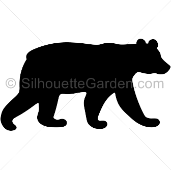 Black bear silhouette clip art. Download free versions of the ...