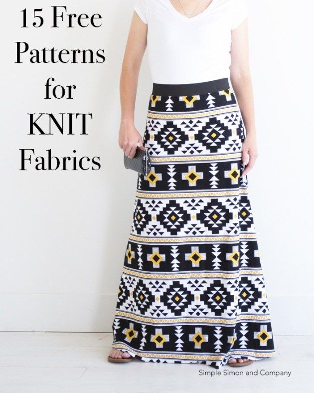 15 Sewing Projects for KNITS (and Beginners -   15 DIY Clothes Dress beginners sewing ideas