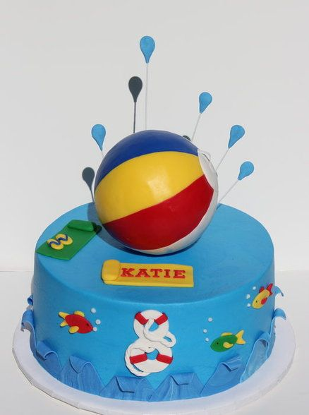 Beach ball cake Cakes and Cupcakes for Kids birthday party