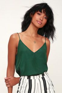 Ekria Dark Green Cami Top