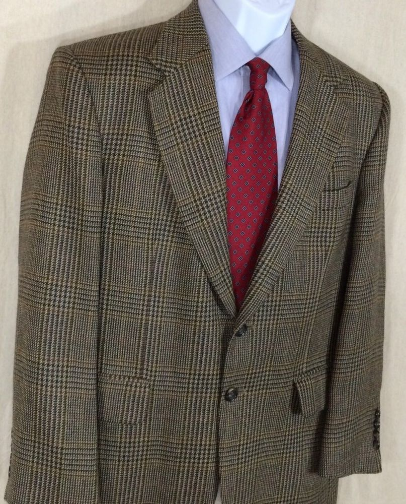 Options by Stafford Mens Sport Coat Size 40S Brown 2 Button Tweed 100%  Wool. Find this Pin and more on Vestiditos by Inci. Tags. Trajes De Hombre cc67ac787b9