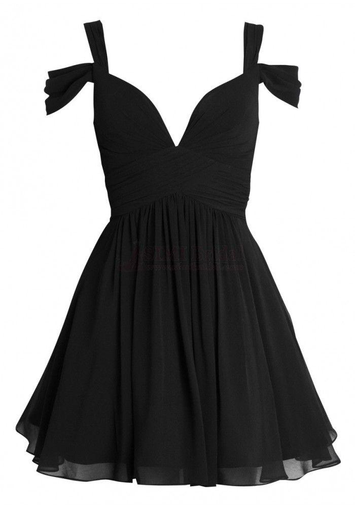 Ruched Short Chiffon Dresses