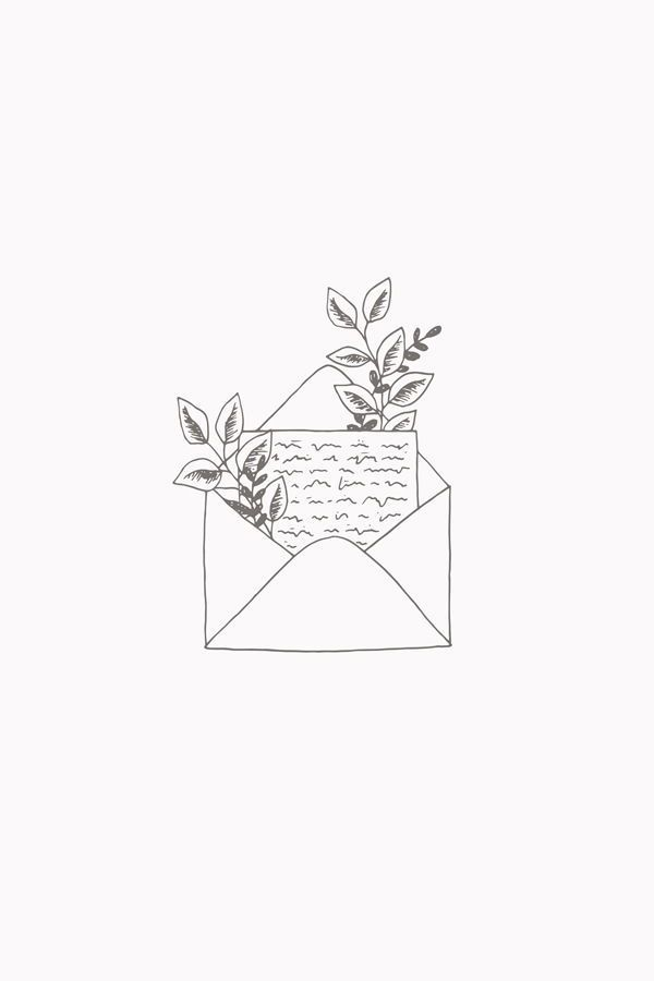 Botanical Love Letter illustration art print by Bea & Bloom Creative Design Studio - Available on Society6 #tattoodrawings