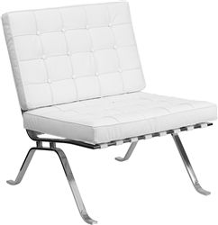 Astonishing Flash Furniture White Leather Lounge Chair With Metal Legs Unemploymentrelief Wooden Chair Designs For Living Room Unemploymentrelieforg