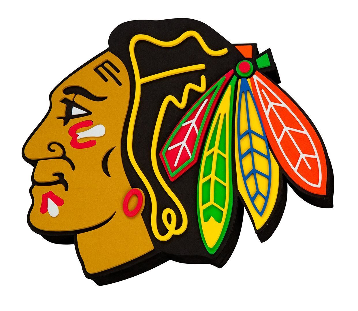 chicago blackhawks 3d fan foam logo sign chicago blackhawks and rh pinterest com