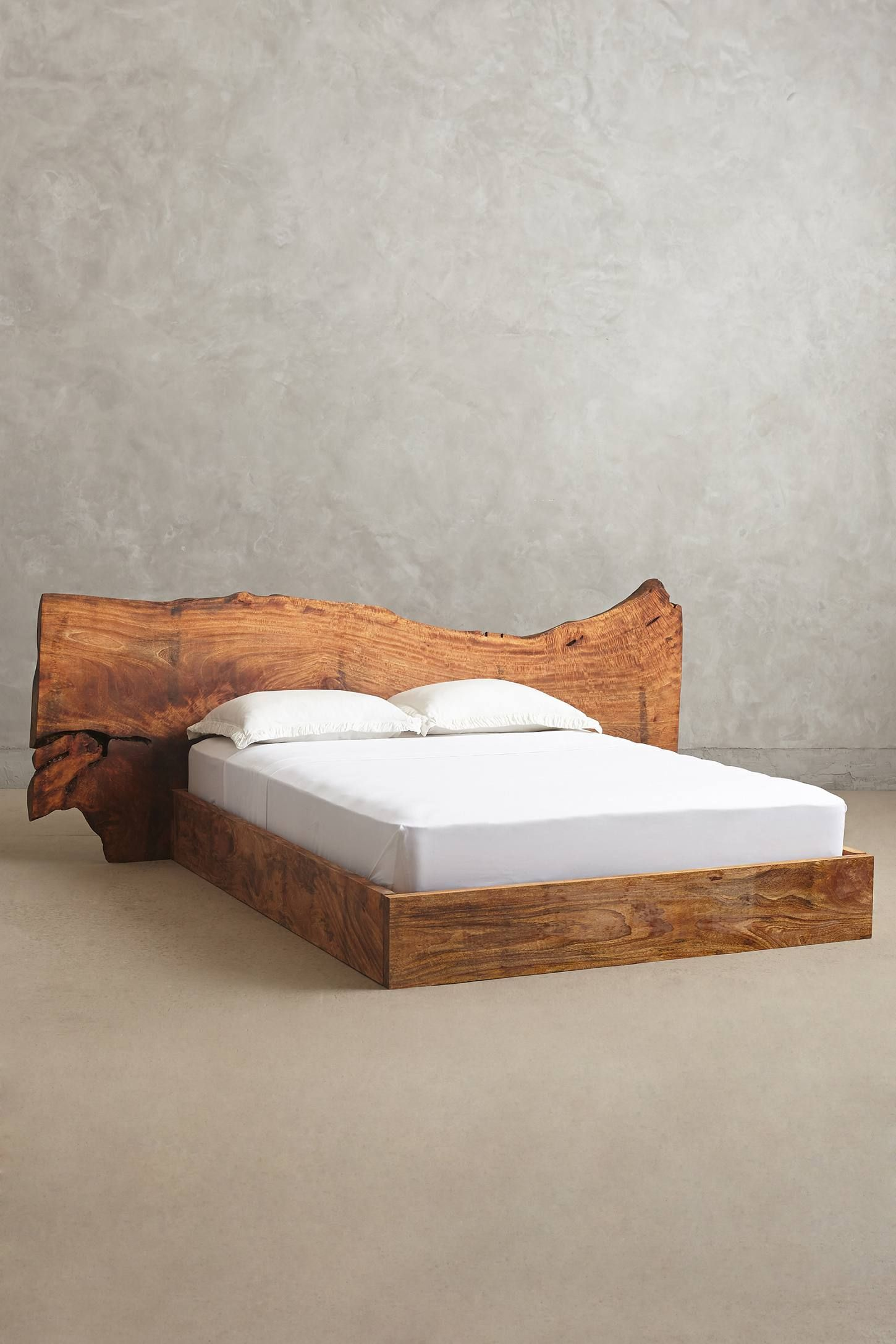 Live edge wood queen bed beds pinterest muebles alcoba and