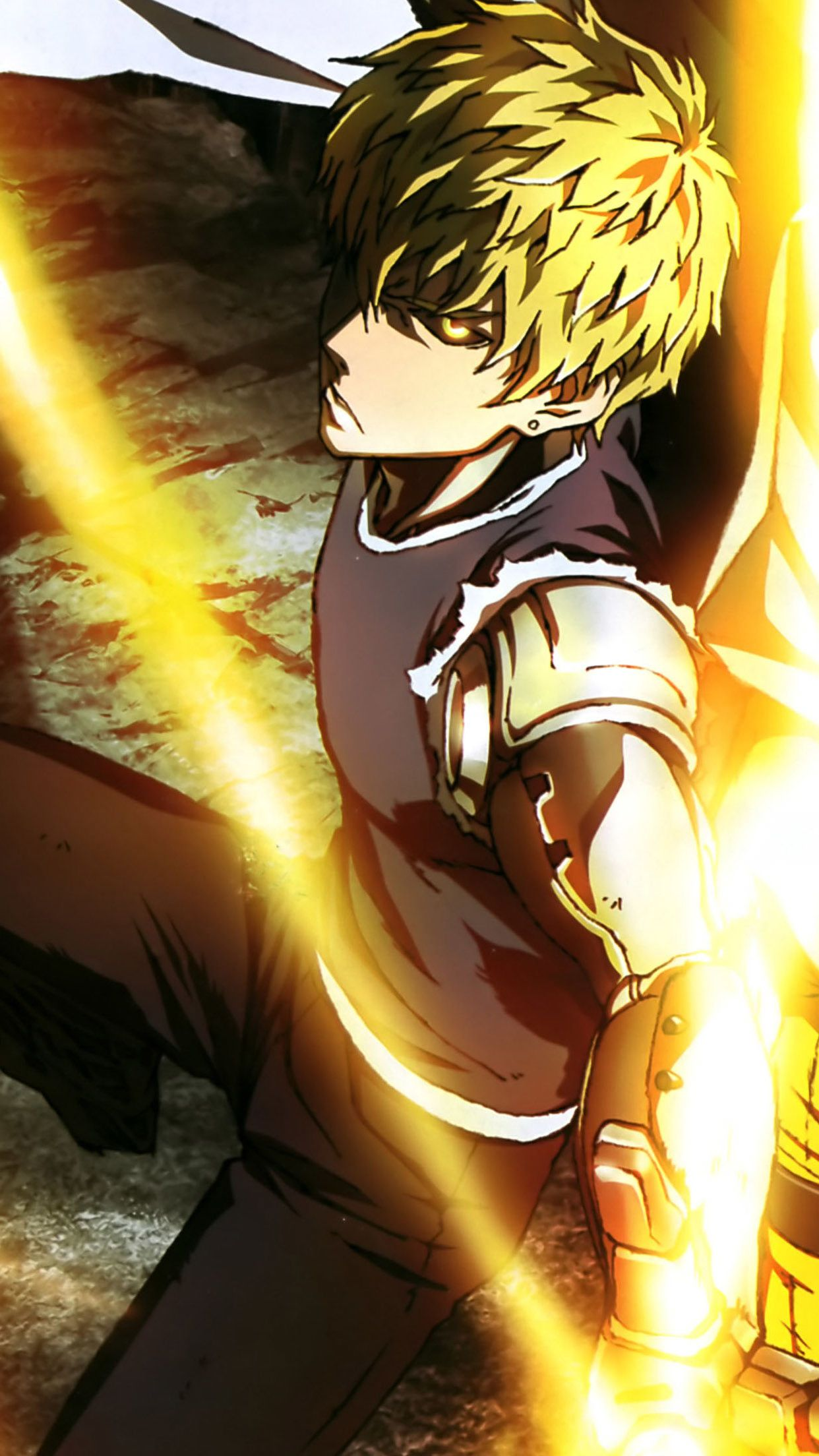 1242x2208 One Punch Man Genos Super Iphone Hd Wallpapers