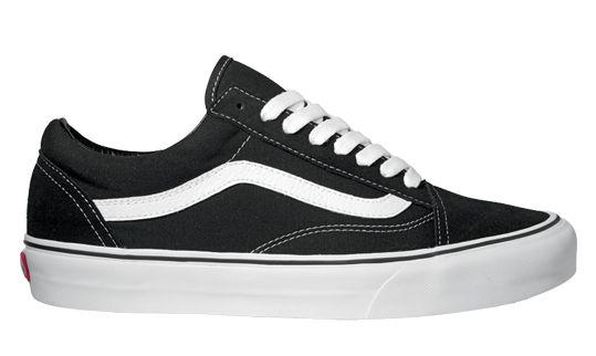 VANS Old Skool Platform Black & True White Kids Shoes