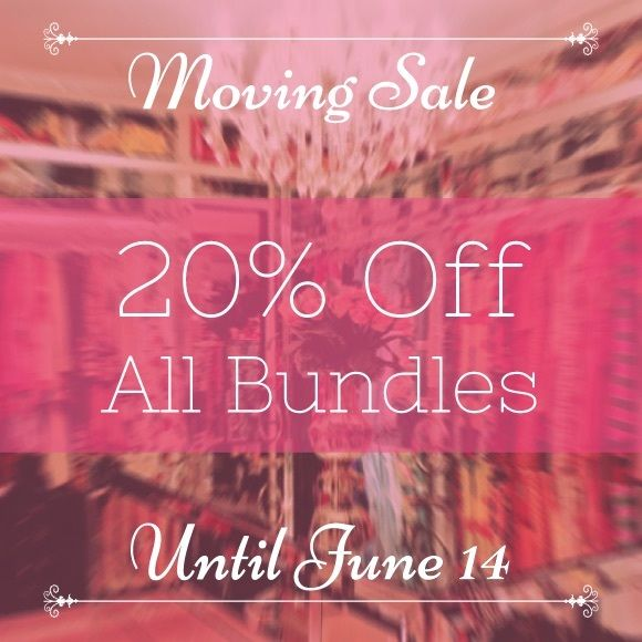 Moving Sale! 20% Off Bundles Until June 14 Moving Sale! 20% Off Bundles Until June 14 Other