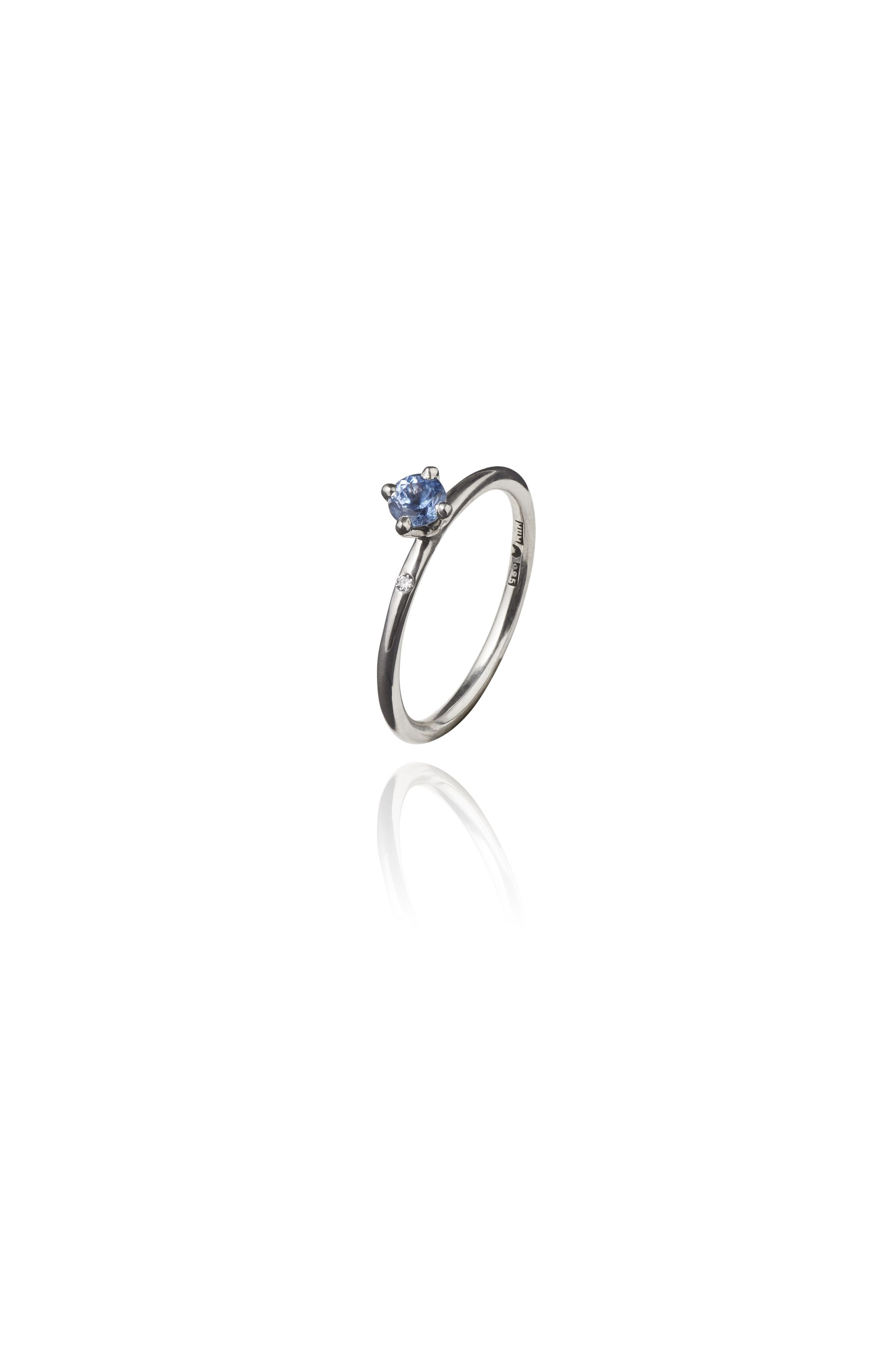 gold products limited edition bellis gemstone blue sapphire alebrusan ring ethical white light engagement fairtrade