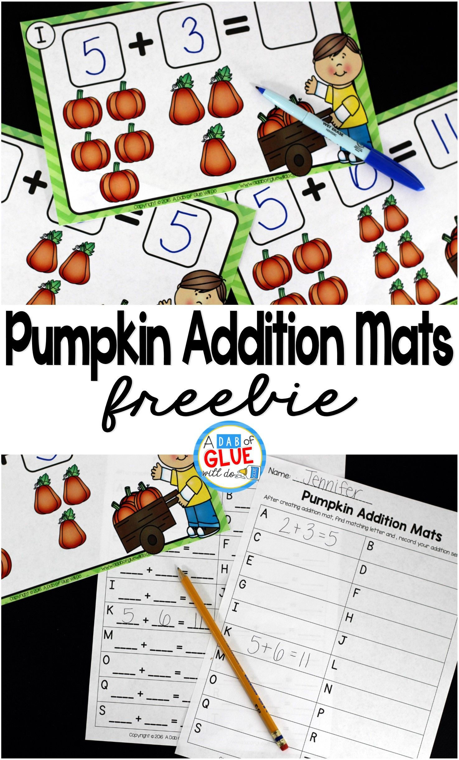 Pumpkin Addition Mats