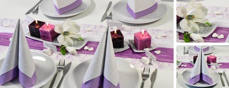 tischdekoration zur kommunion oder konfirmation in weiß / flieder, Garten und bauen