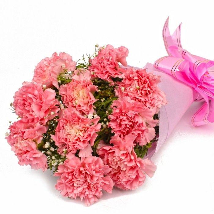 Nelken Blumen Zum Valentinstag Strauß Blumen