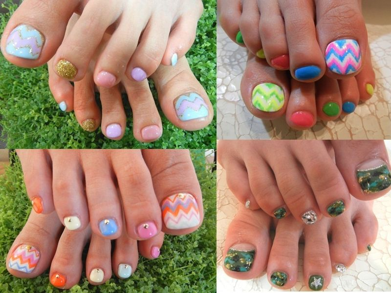 Pretty clean nail art design with white color trendy colorful 17 beautiful stylish pedicure nail art ideas to try this summer prinsesfo Images