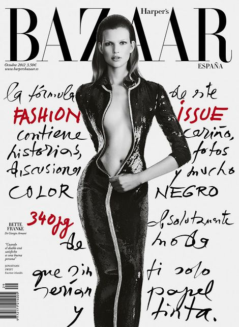 Bette Franke x Harper's Bazaar Spain / handwriting awesome graphism