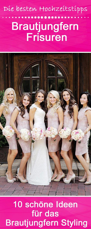 Die 10 schönsten Brautjungfern Frisuren   Pinterest   Brautjungfern ...