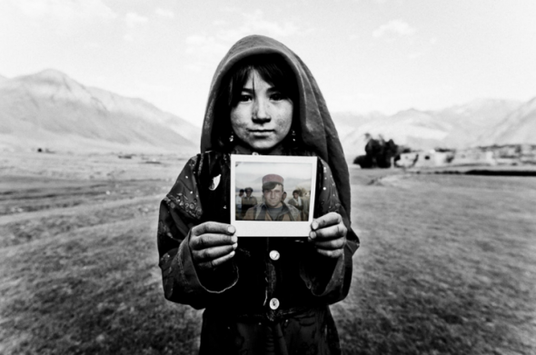 French photographers Fabrice Nadjari and Cedric Houin took Polaroid pictures of the Afghan people who live in the region Wakhan. Many of the portrayed people had never seen a photograph before.