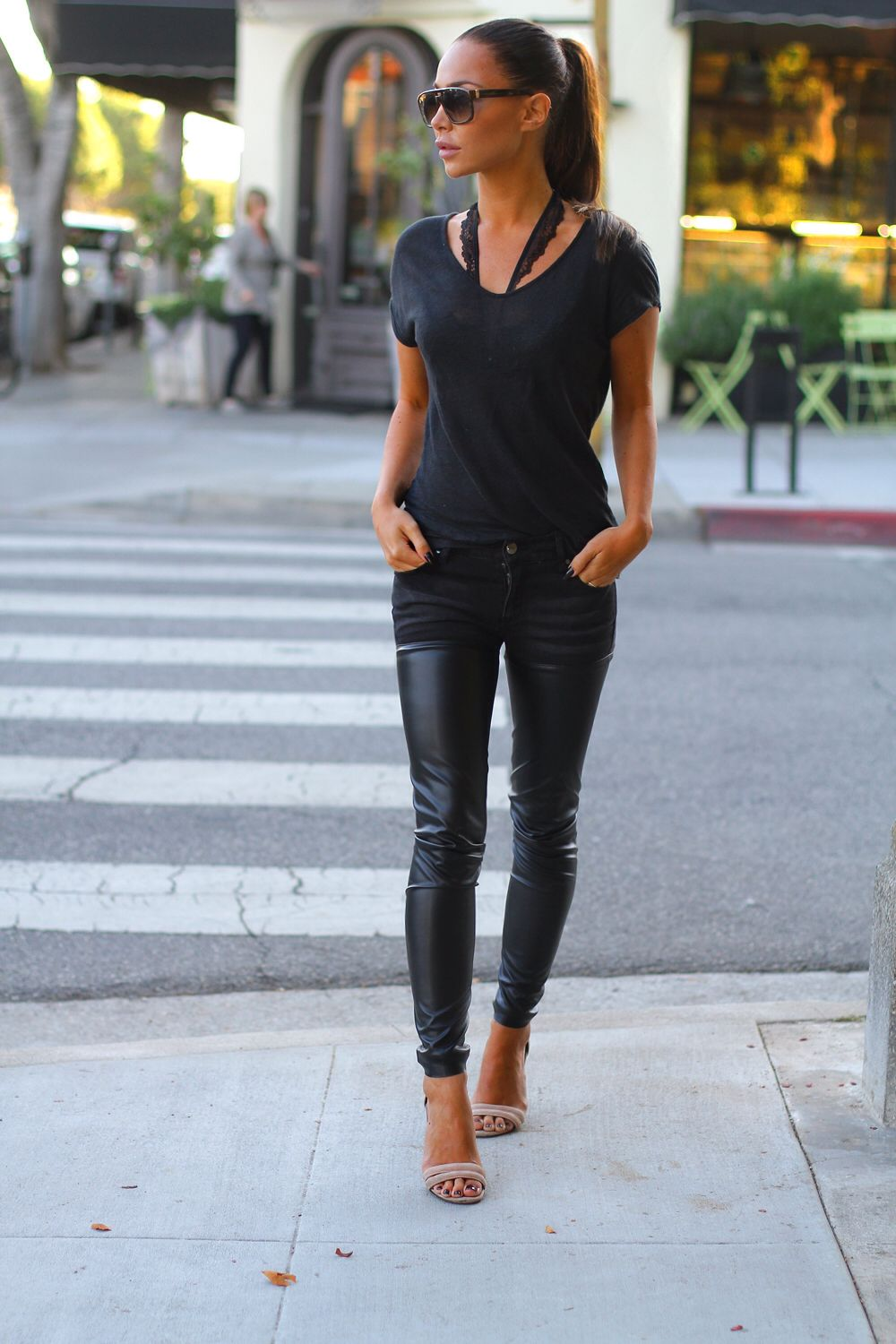 954d44cf46 Leather pants...nuff said! These are my absolute FAV to wear with ...