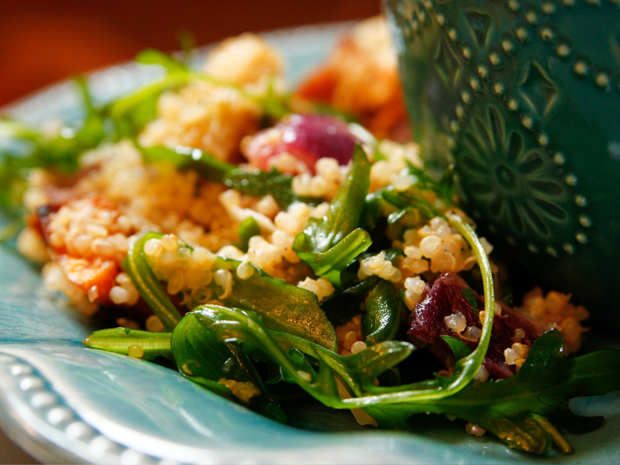 Quinoa with buttery roasted vegetables recipe vegetable quinoa with buttery roasted vegetables forumfinder Gallery