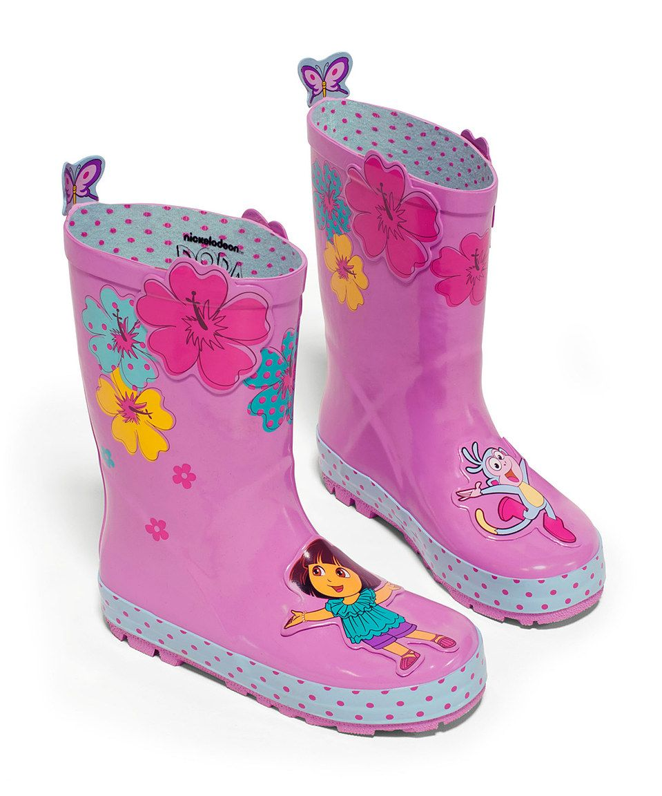 Look what I found on #zulily! Pink Dora the Explorer Rain Boot by Dora the Explorer #zulilyfinds