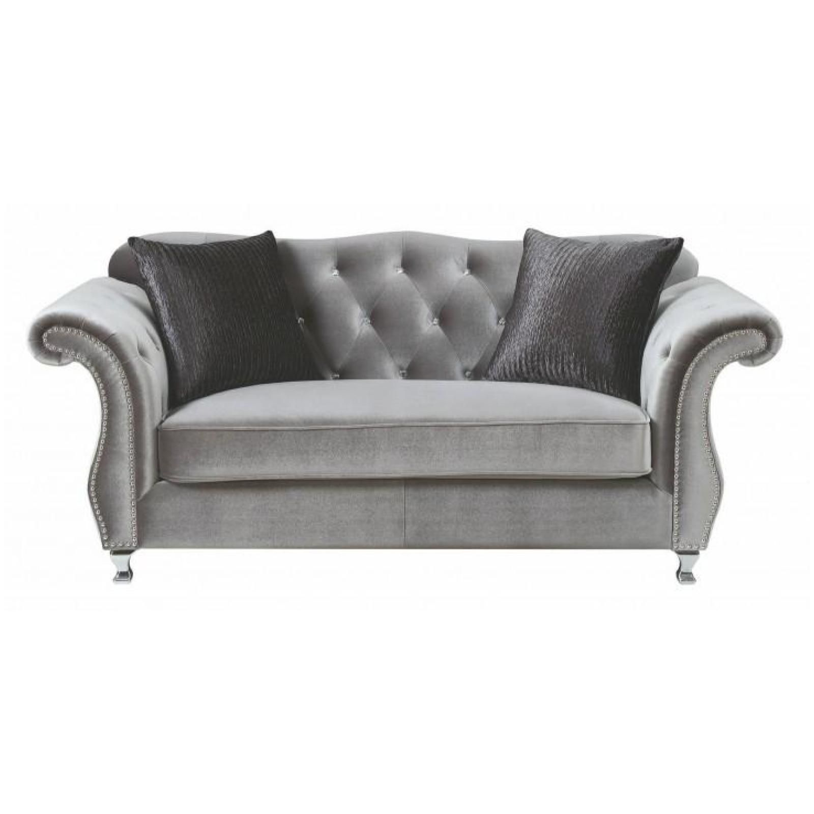Frostine Living Room Set Living Room White In 2019 Furniture Coaster Furniture Chesterfield Sofa