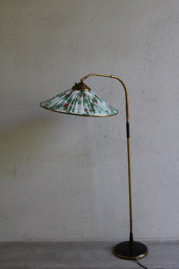 50er Jahre Mid Century Stehlampe Mit Floralem Muster In 2020 Stehlampe Lampe Floral Muster