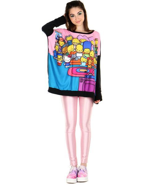 9aa7f2300 COUCH PARTY OVERSIZED PULLOVER Hello Kitty Collection, Kawaii Clothes, The  Simpsons, The Selection