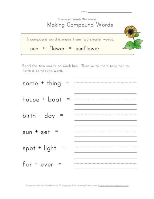 Compound Words Worksheet 1 Of 4 Compound Words Compound Words Worksheets Words Compound words worksheet grade 3