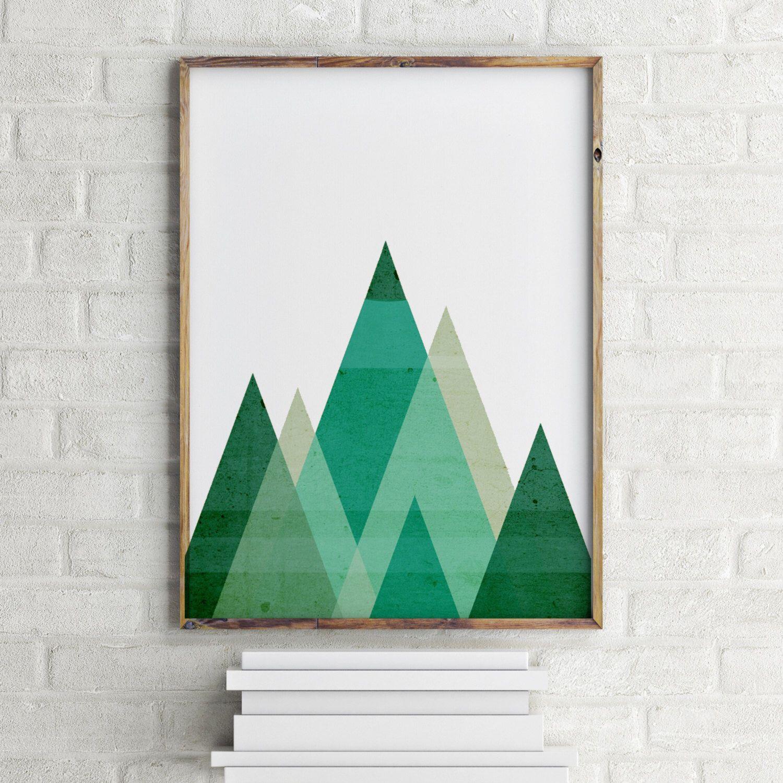 MOUNTAIN ART Printable Geometric Mountains Mint Green Print Green Geometric Art Green Mountain Print Mint Green Triangle Wall Art Print by YourHomeArt on Etsy https://www.etsy.com/listing/270058620/mountain-art-printable-geometric