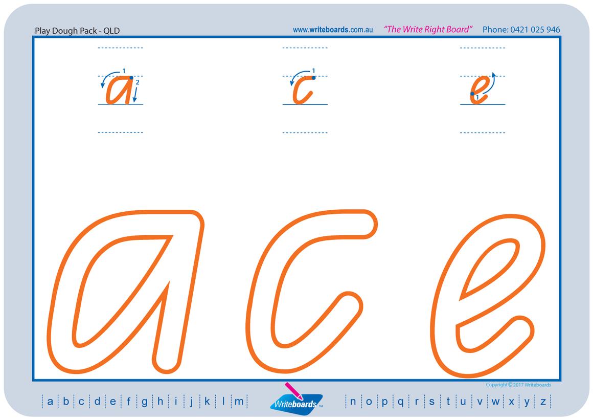 Qld Modern Cursive Font Handwriting Worksheets Teaching