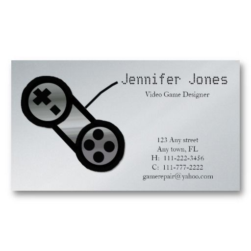 Video Game Design Business Card Video Game Business Cards