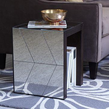amusing living room west elm decorate shiny | Herringbone Mirror Side Table #westelm | Home love ...