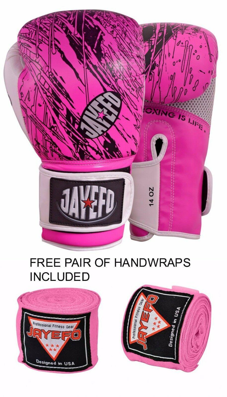 PRO Boxing Gloves Sparring Gel MMA Punch Bag Kickboxing Training Muay Thai PAIR
