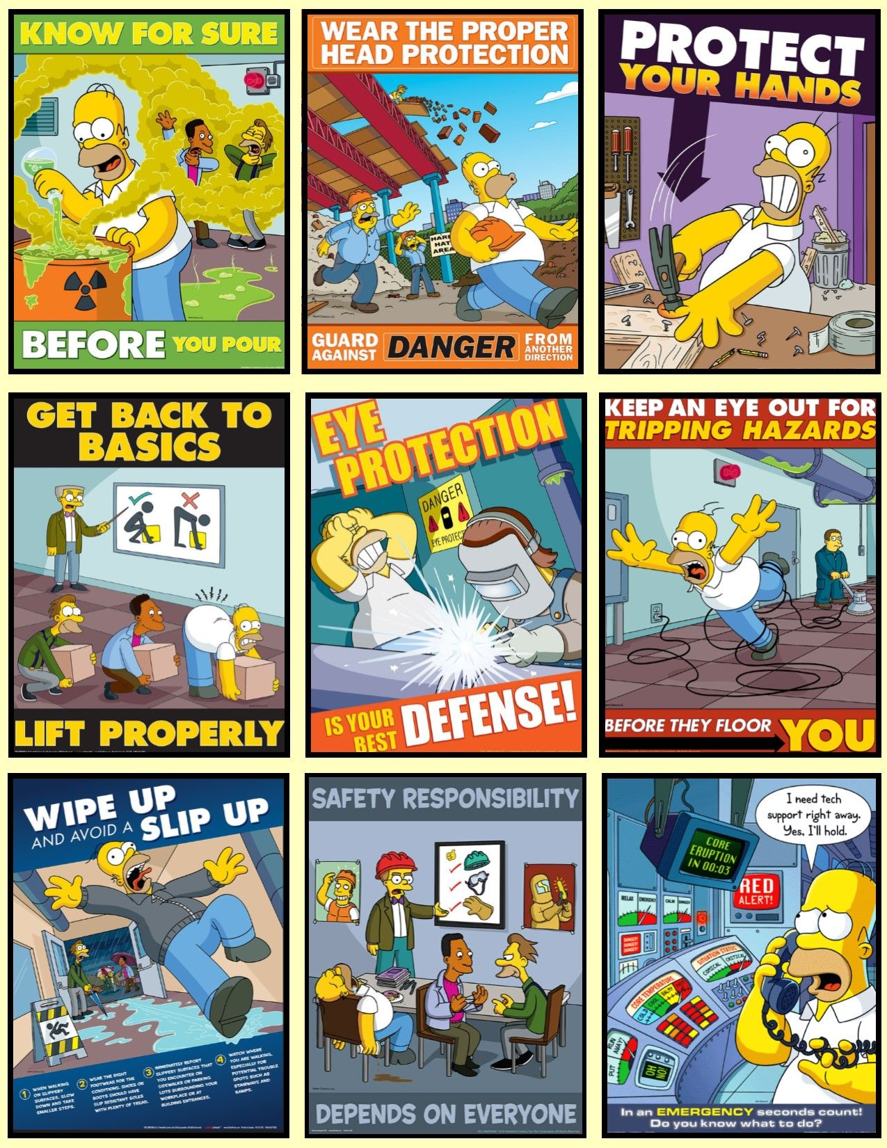 Safety at a Glance 1 Safety posters, Occupational health