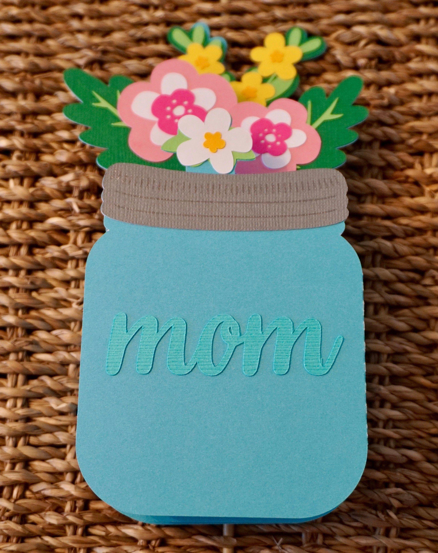 mother's day cards greeting cards mason jar card fun