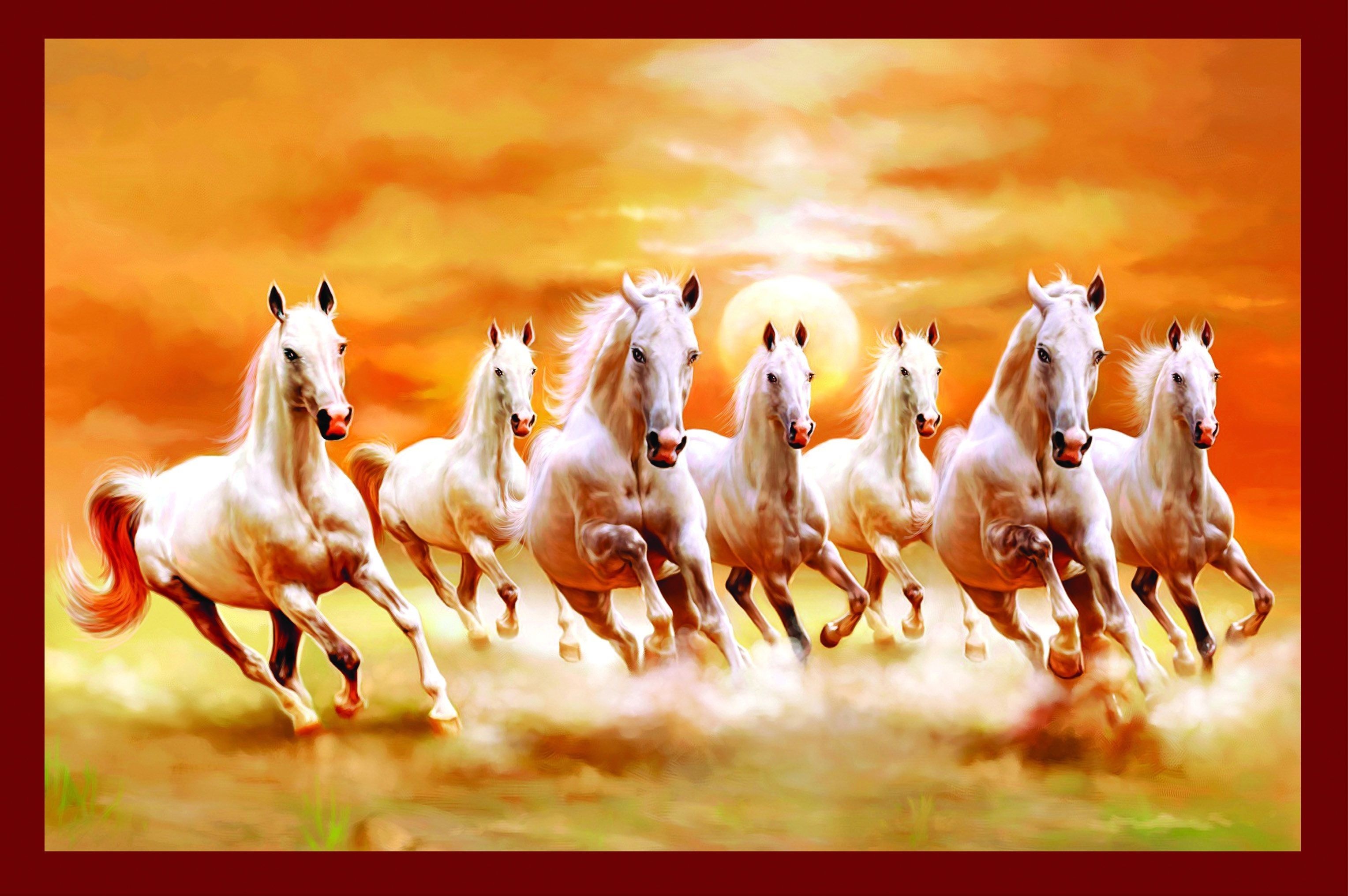 Seven Horse Wallpaper For Iphone