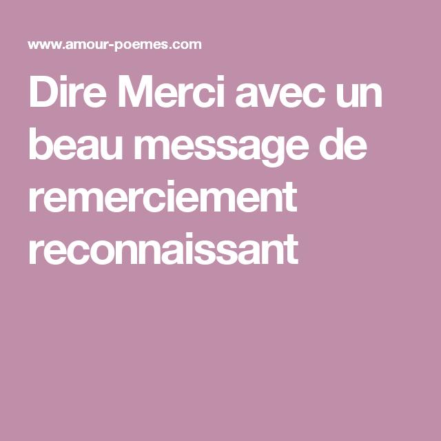 Message remerciement belle mere
