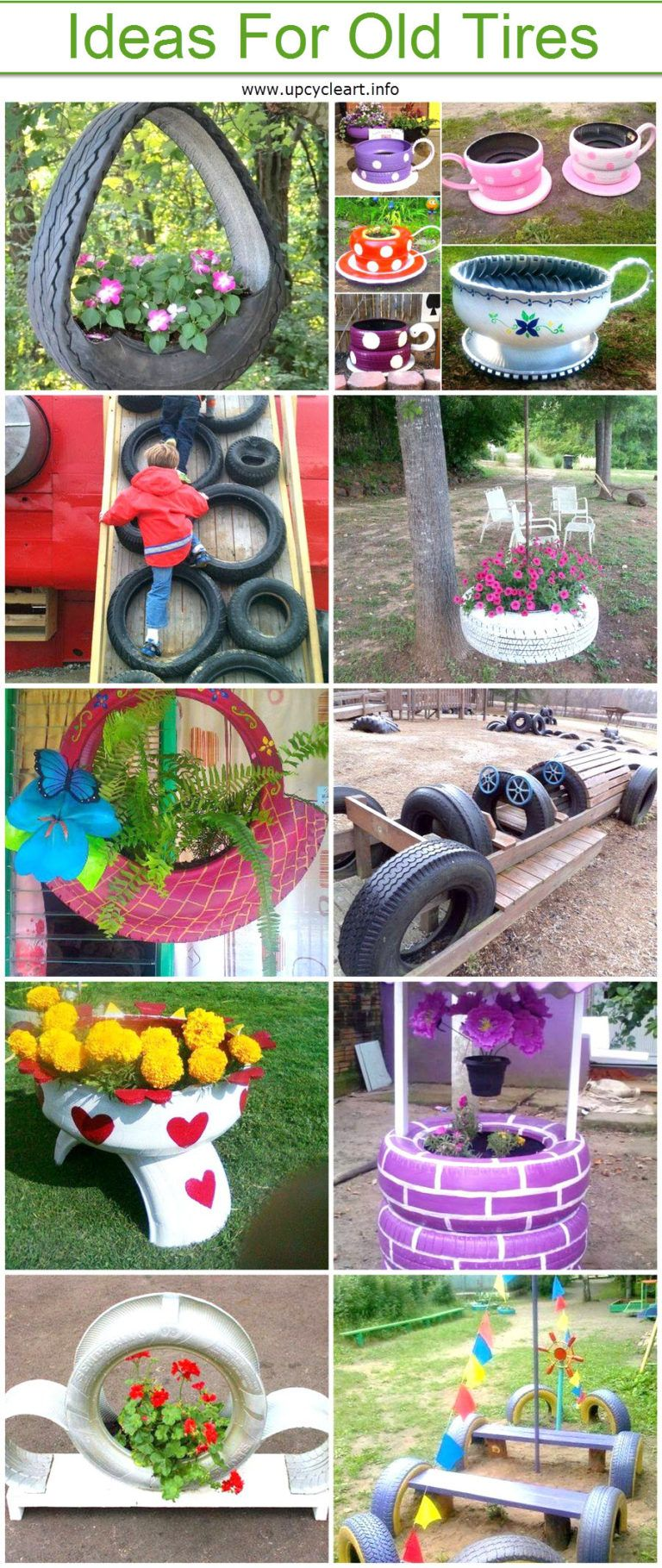 Diy Crafting Ideas For Old Tires Upcycle Art Repurposed Tires Diy Projects Diy Yard Decor Old Tires