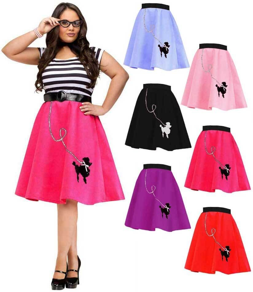 db8279c0f17 Plus Size 50 s Felt Poodle Skirt - More Colors - Candy Apple Costumes - See  All Women s Costumes
