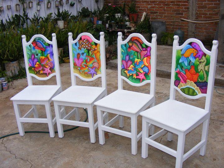 muebles chukari michoacán méxico muebles pintados sillas artesano