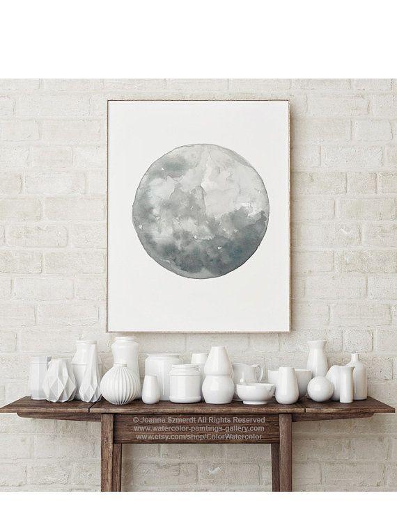 Home Decor Full Moon Wall Tile Art