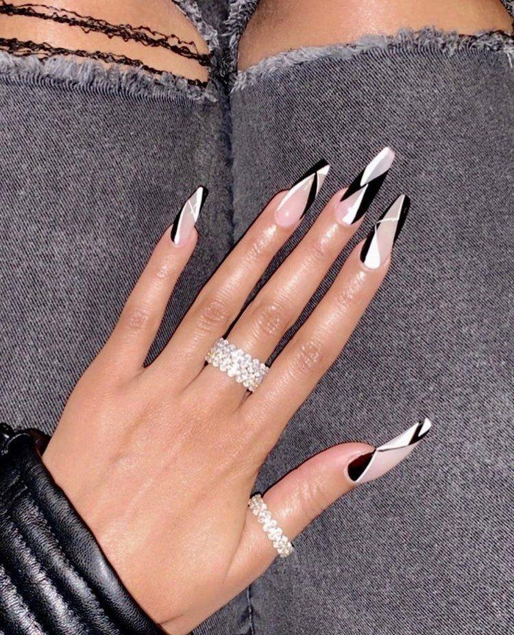 Thinner Bands Individual Richgirlz Ballerina Nails Designs Long Nail Designs Ballerina Nails
