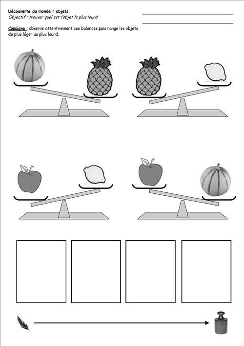 objets les balances p riode 4 gs cp. Black Bedroom Furniture Sets. Home Design Ideas